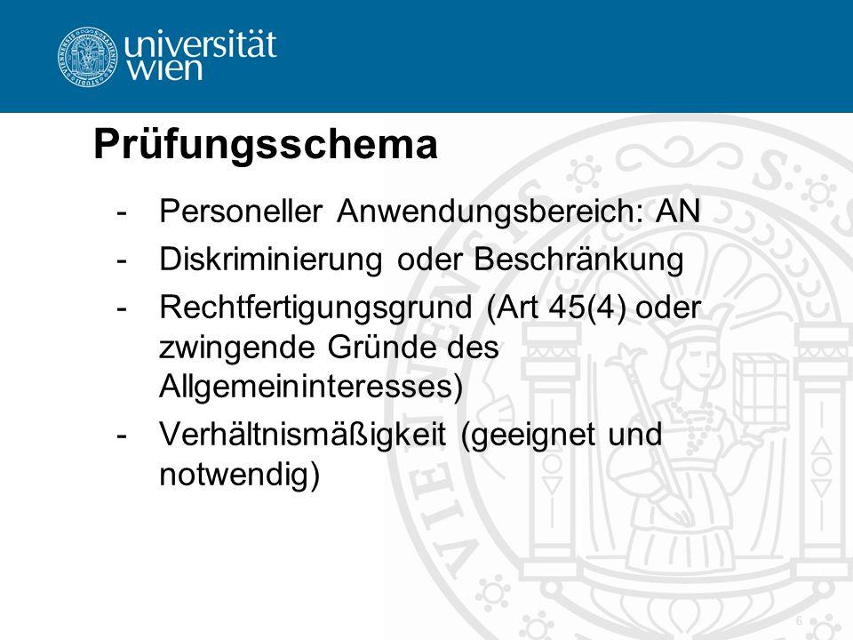 Prüfungsschema Personeller Anwendungsbereich: AN