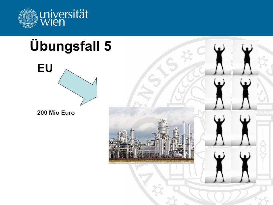 Übungsfall 5 EU 200 Mio Euro