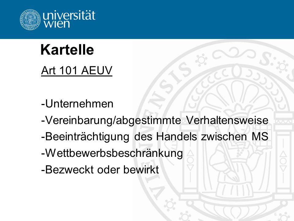 Kartelle Art 101 AEUV Unternehmen