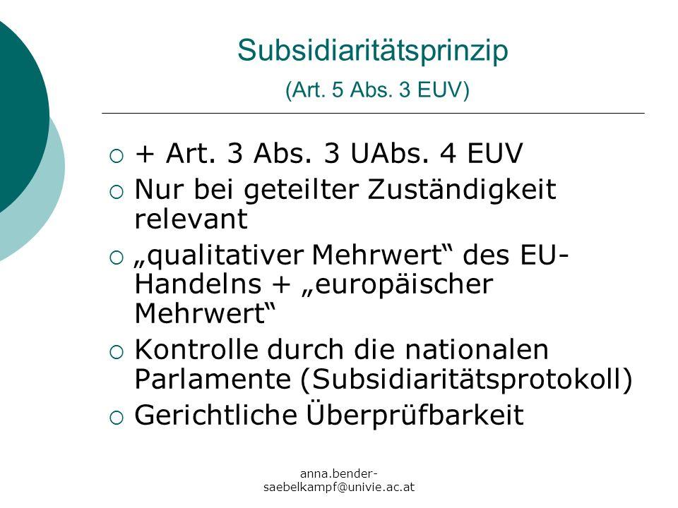 Subsidiaritätsprinzip (Art. 5 Abs. 3 EUV)