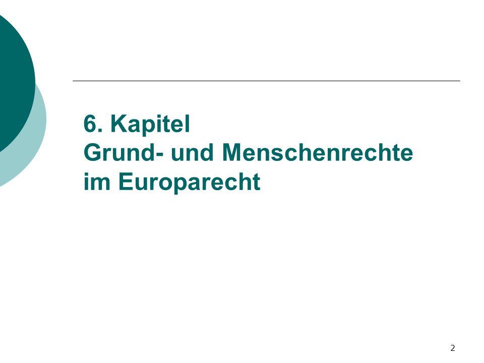 6. Kapitel Grund- und Menschenrechte im Europarecht