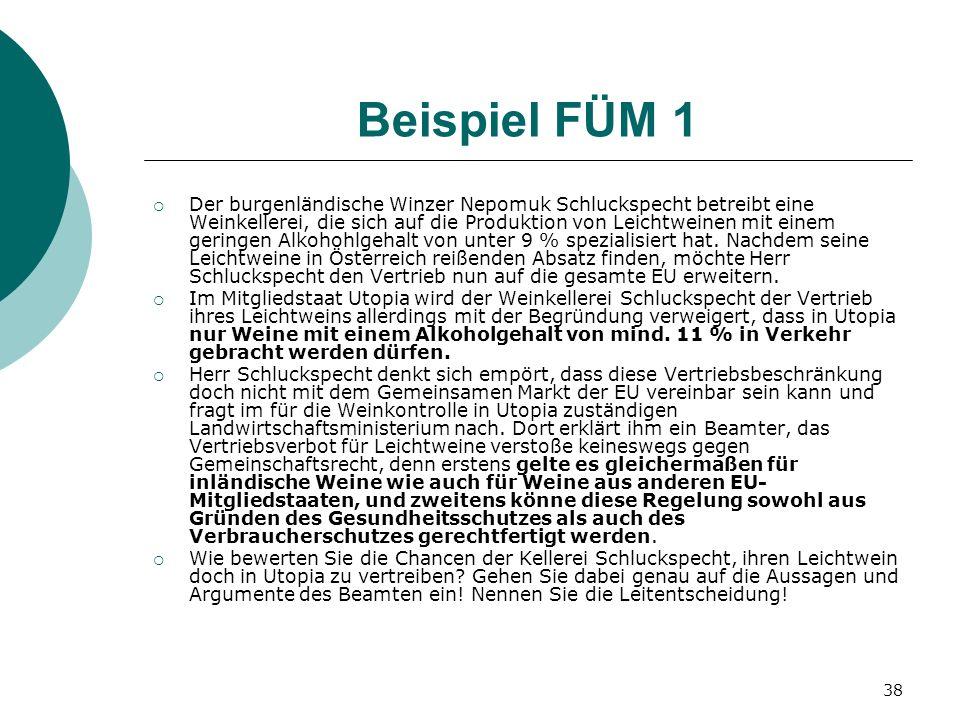 Beispiel FÜM 1