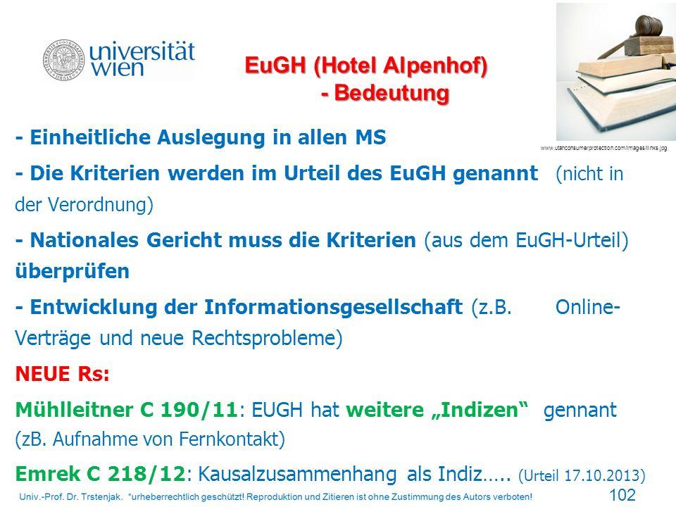 EuGH (Hotel Alpenhof) - Bedeutung