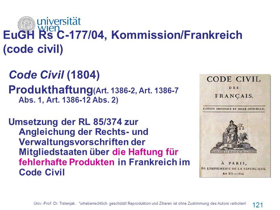 EuGH Rs C‑177/04, Kommission/Frankreich (code civil)