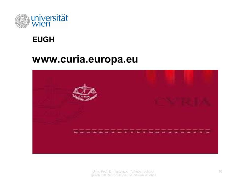 www.curia.europa.eu EUGH