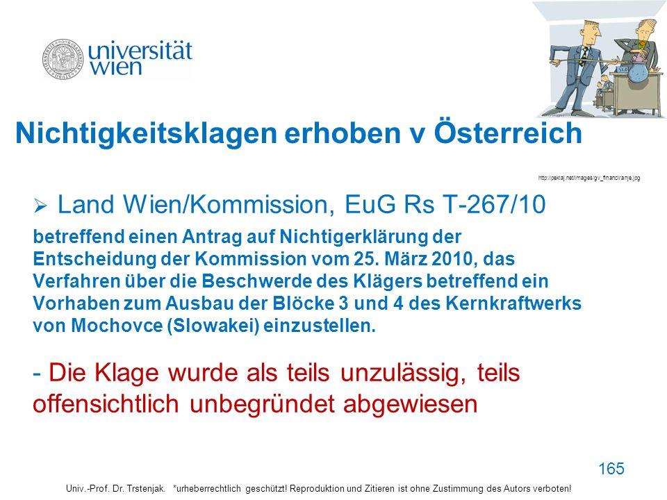 Nichtigkeitsklagen erhoben v Österreich