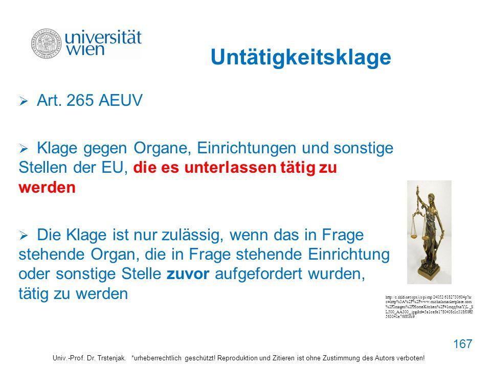 Untätigkeitsklage Art. 265 AEUV