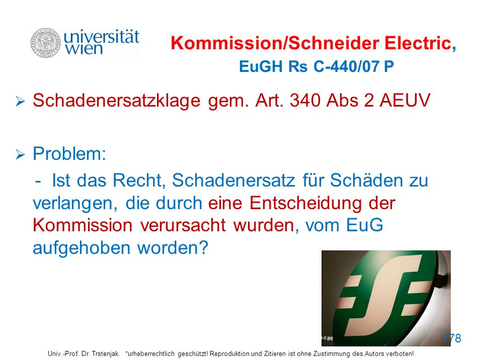 Kommission/Schneider Electric, EuGH Rs C-440/07 P