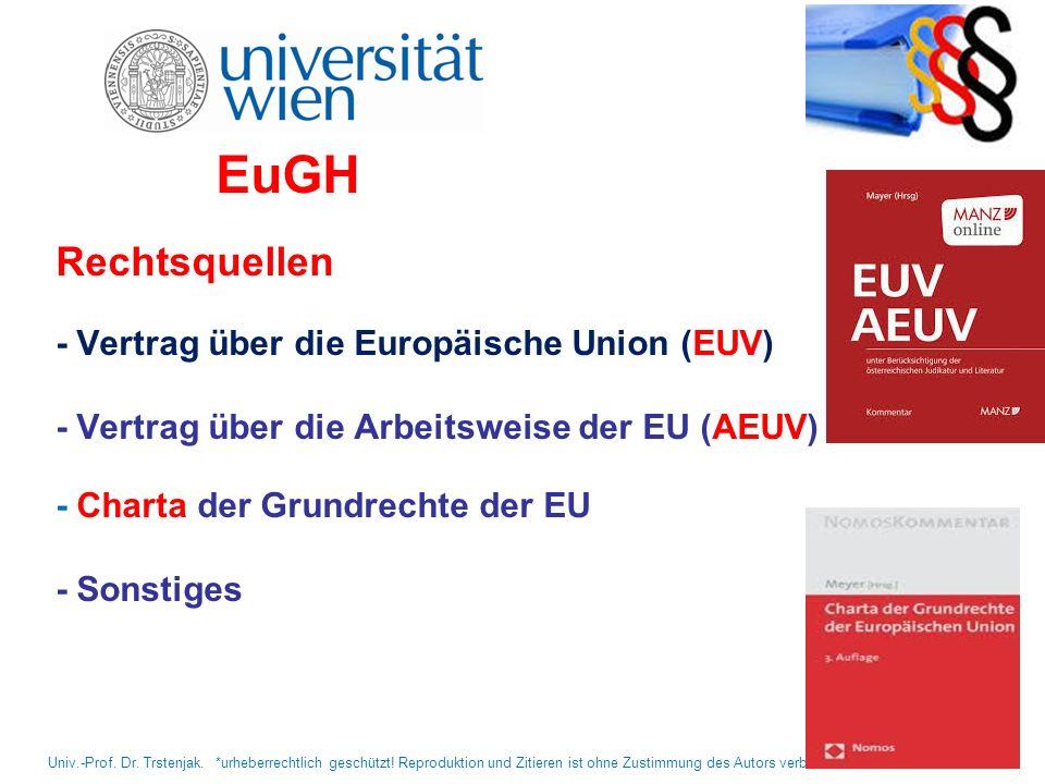 EuGH Rechtsquellen - Vertrag über die Europäische Union (EUV)