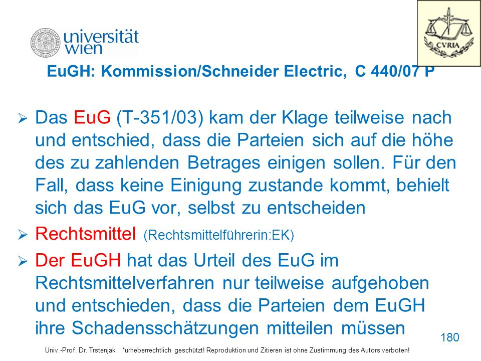 EuGH: Kommission/Schneider Electric, C 440/07 P