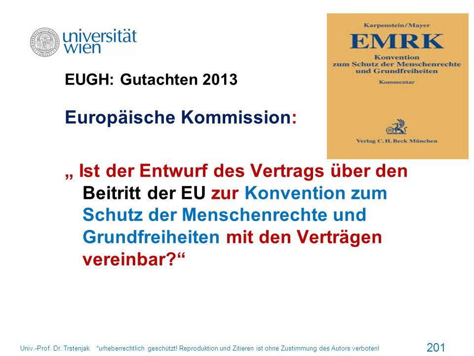 EUGH: Gutachten 2013