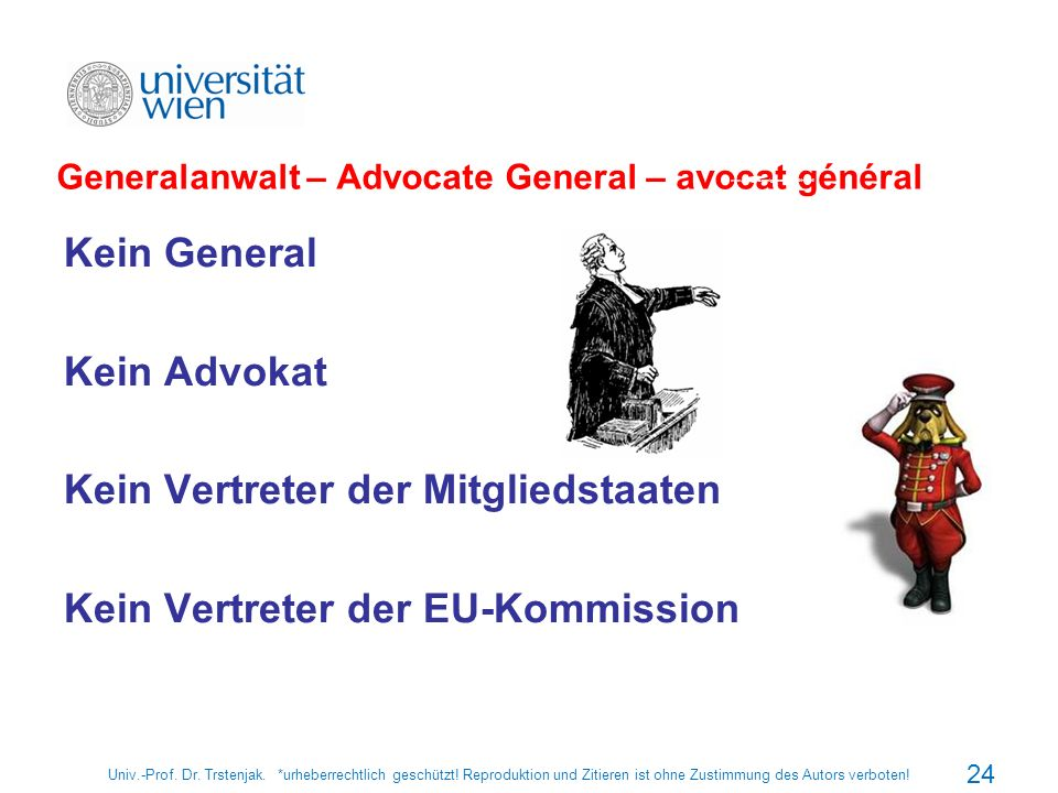 Generalanwalt – Advocate General – avocat général