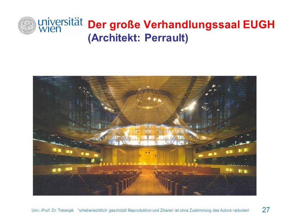 Der große Verhandlungssaal EUGH (Architekt: Perrault)