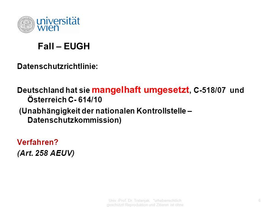 Fall – EUGH