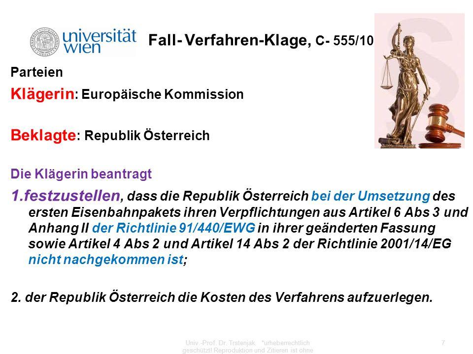 Fall- Verfahren-Klage, C- 555/10