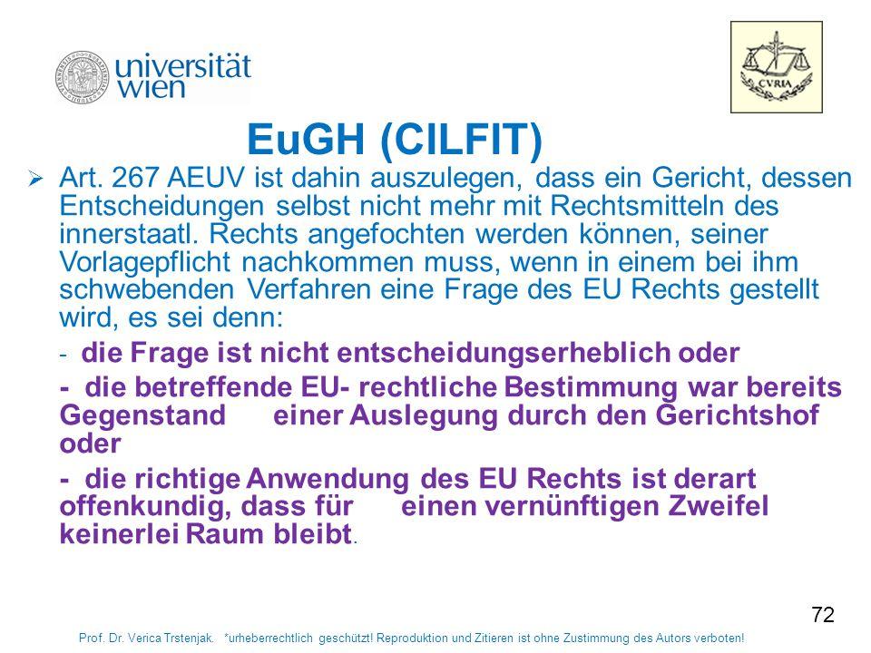 7272 EuGH (CILFIT)