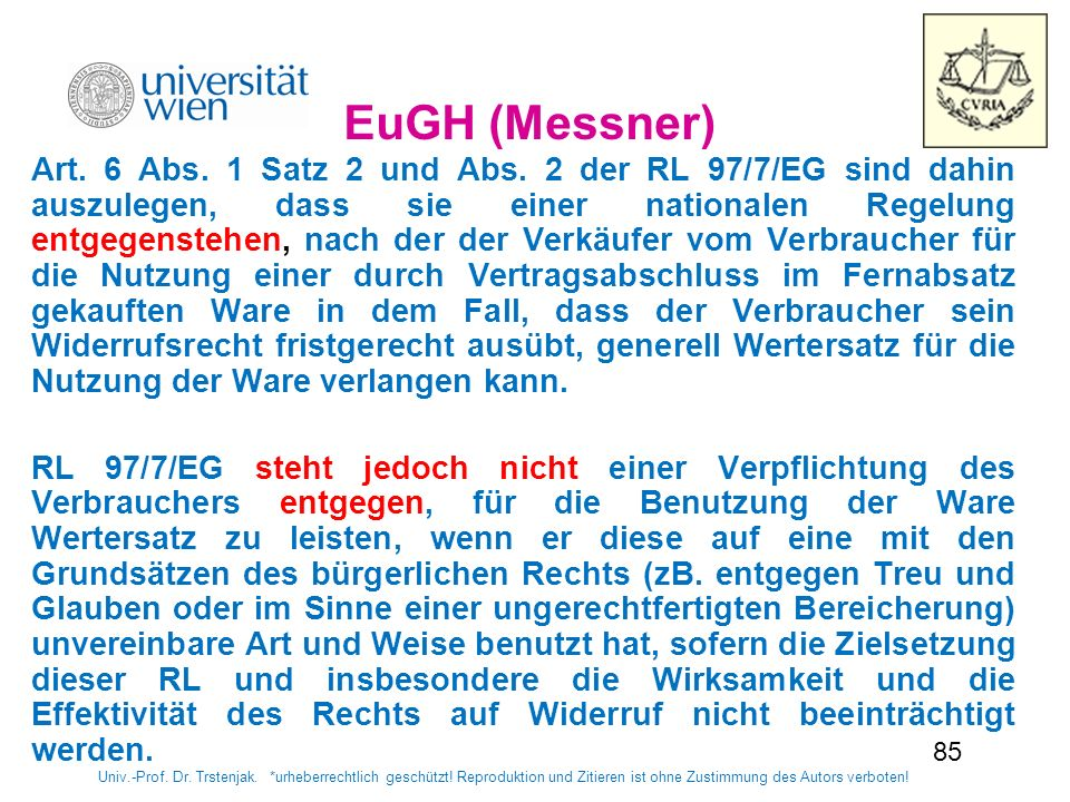 8585 EuGH (Messner)‏