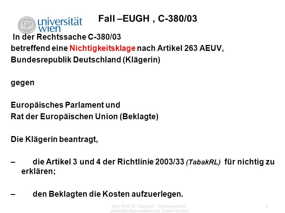 Fall –EUGH , C-380/03