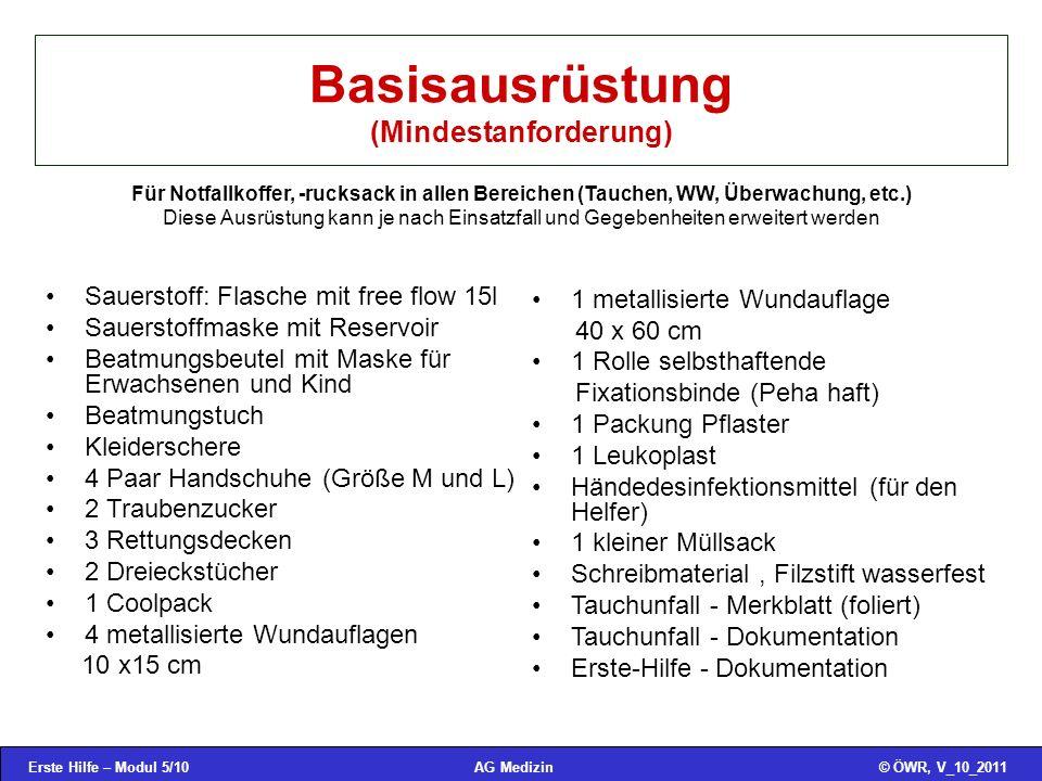 Basisausrüstung (Mindestanforderung)