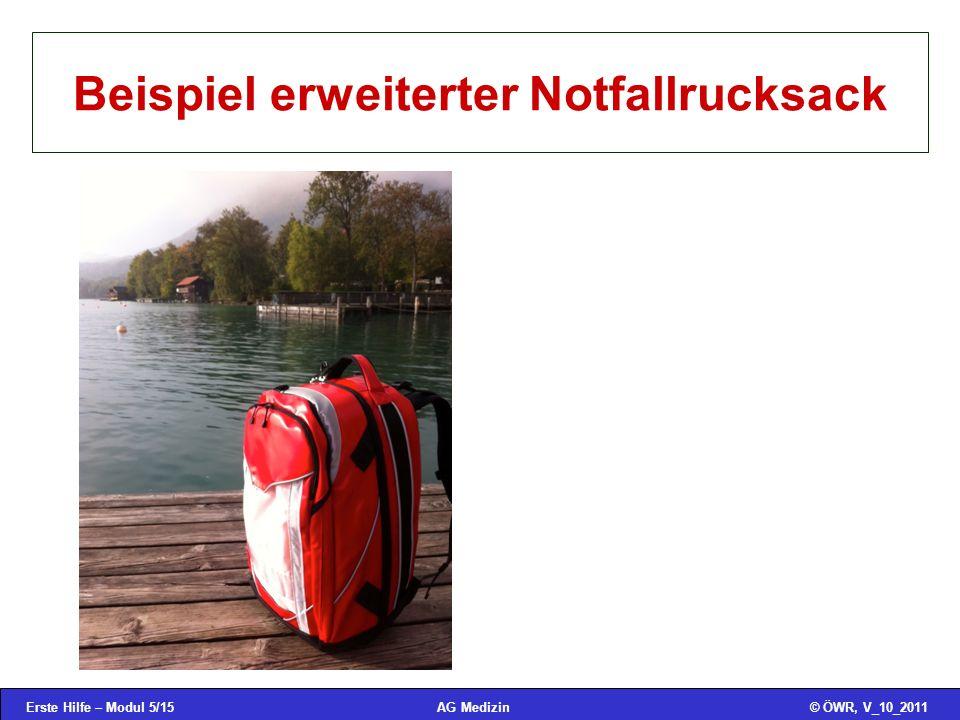 Beispiel erweiterter Notfallrucksack