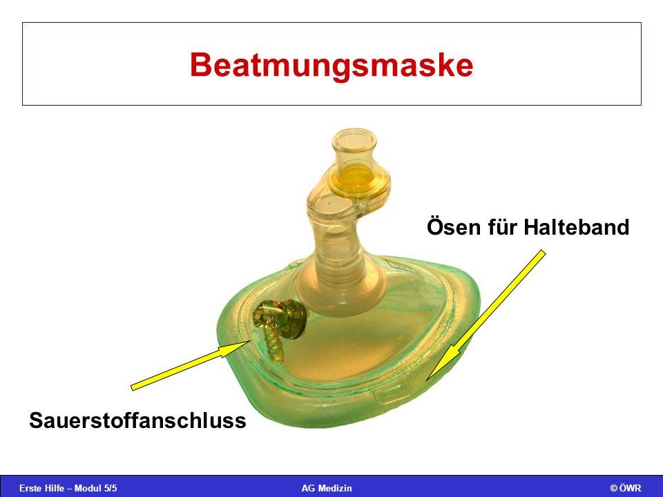 Beatmungsmaske Ösen für Halteband Sauerstoffanschluss