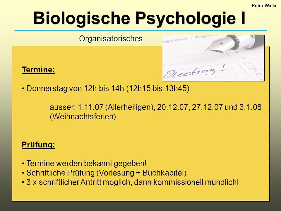 Biologische Psychologie I