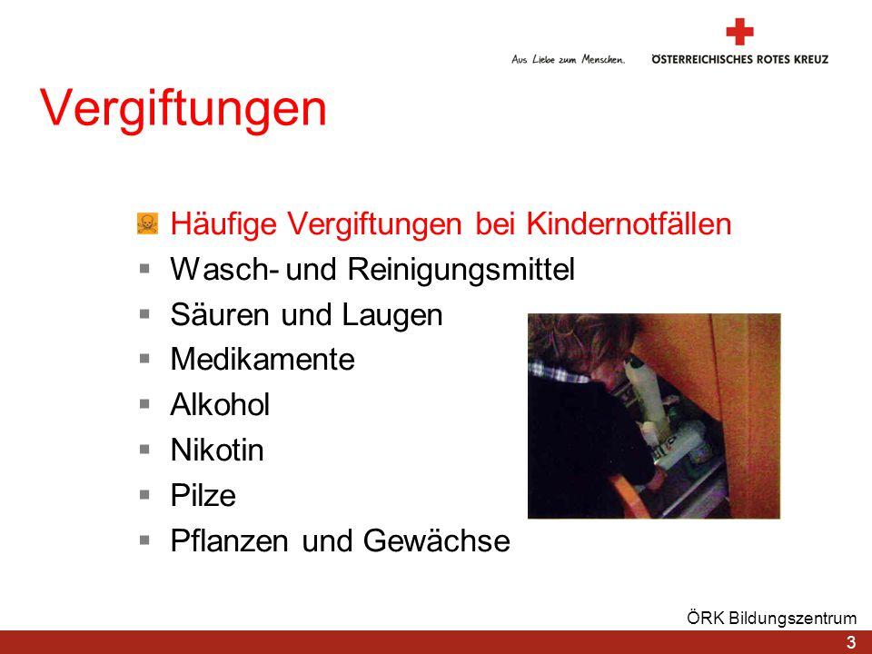 Vergiftungen Häufige Vergiftungen bei Kindernotfällen