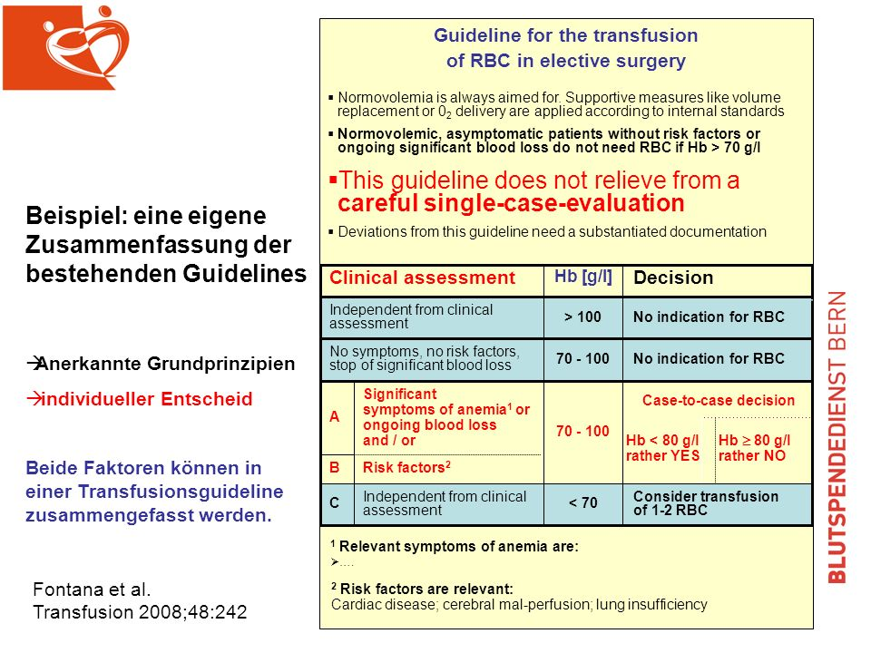 This guideline does not relieve from a careful single-case-evaluation