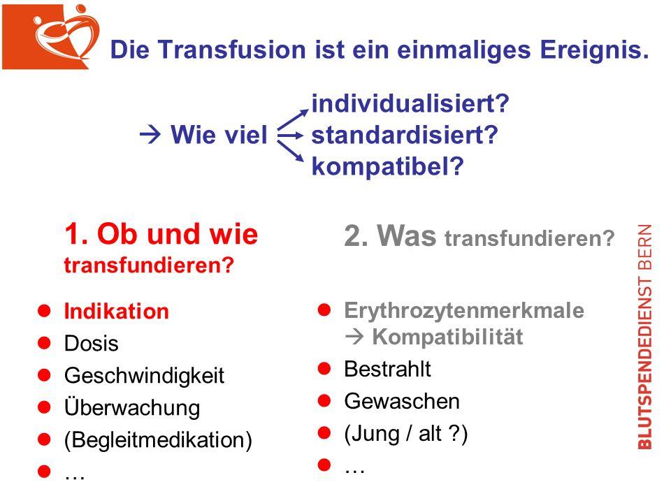 1. Ob und wie transfundieren 2. Was transfundieren