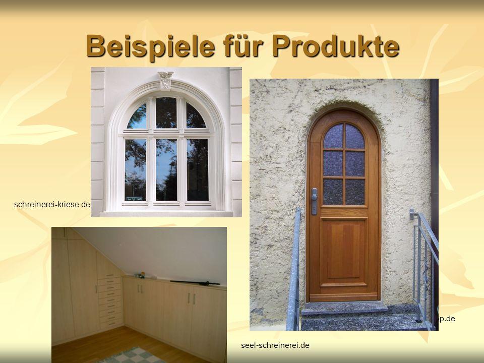 Beispiele für Produkte
