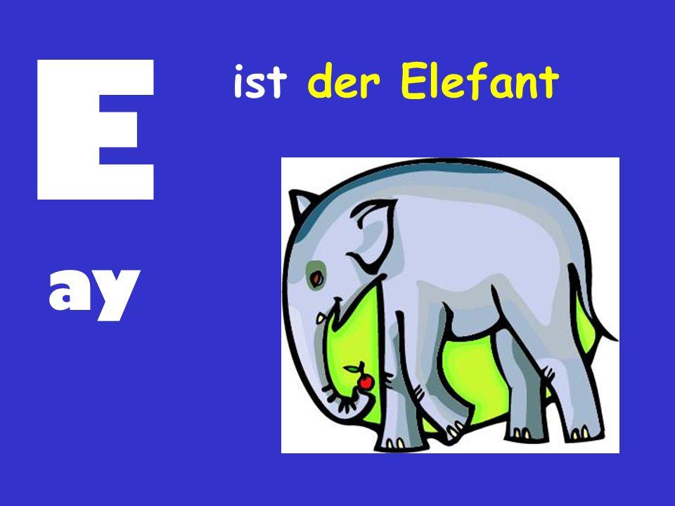 E ist der Elefant ay