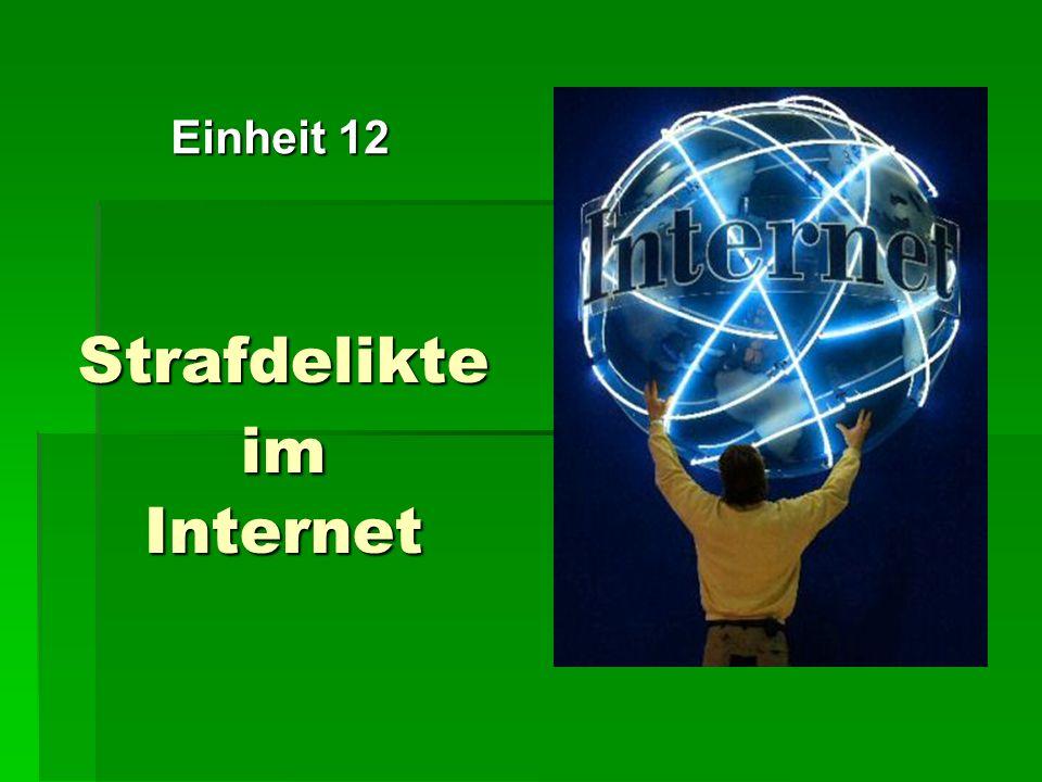Strafdelikte im Internet