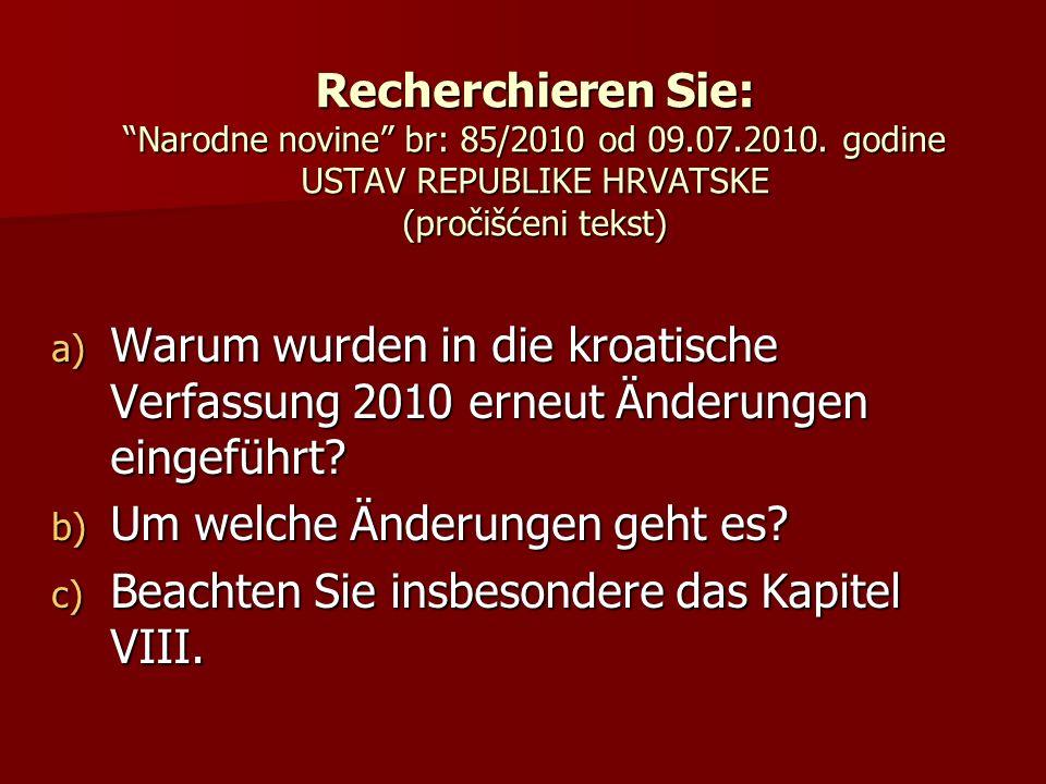 Recherchieren Sie: Narodne novine br: 85/2010 od 09. 07. 2010