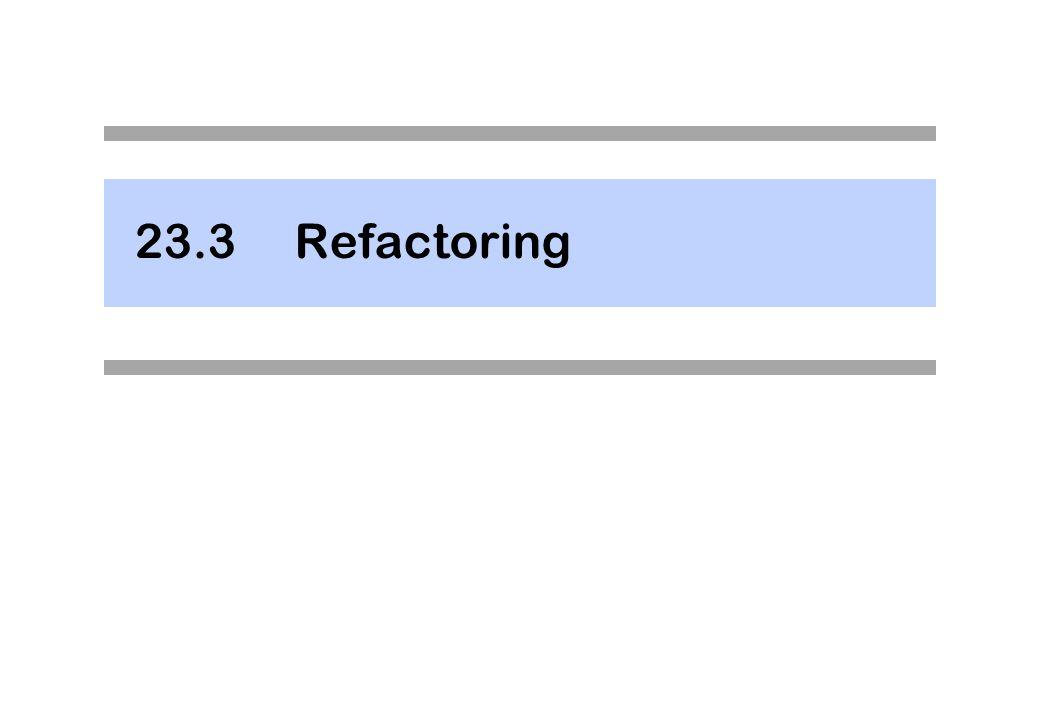 23.3 Refactoring