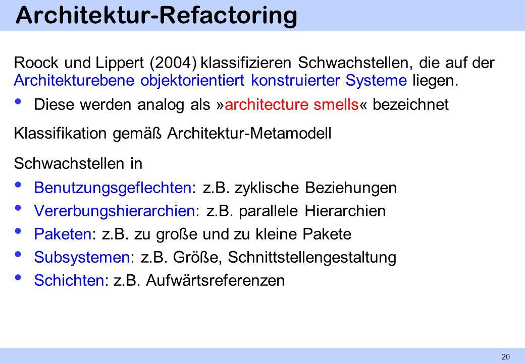 Architektur-Refactoring