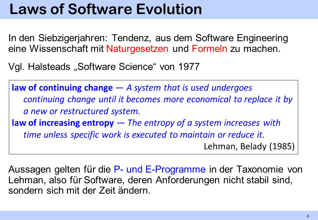 Laws of Software Evolution