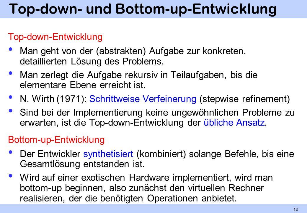 Top-down- und Bottom-up-Entwicklung