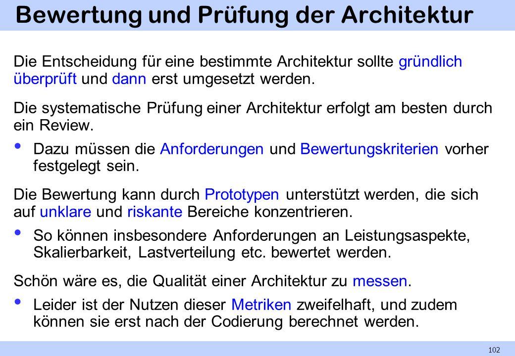 Bewertung und Prüfung der Architektur