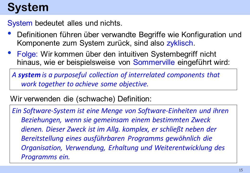 System System bedeutet alles und nichts.
