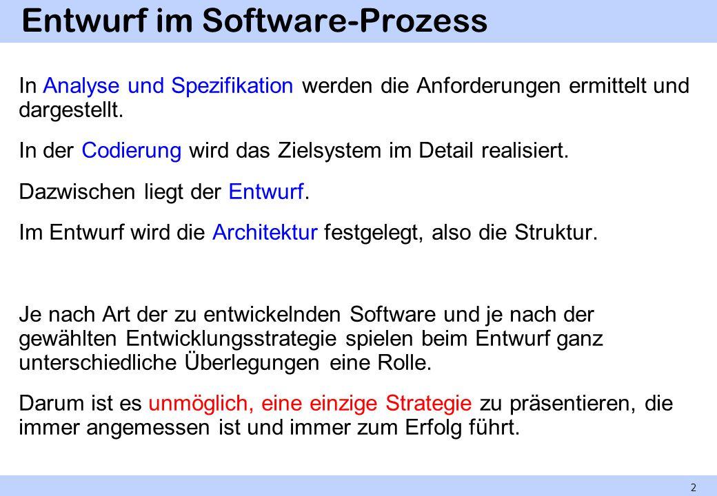 Entwurf im Software-Prozess