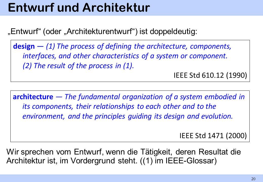 Entwurf und Architektur