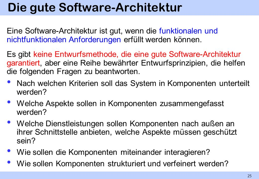 Die gute Software-Architektur