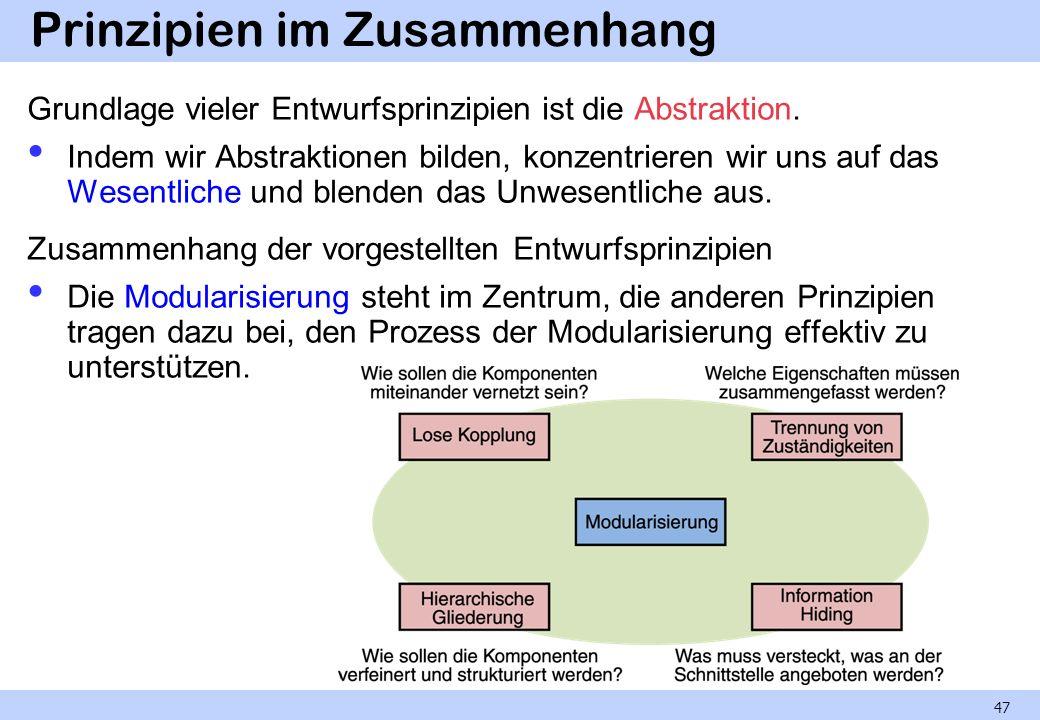 Prinzipien im Zusammenhang