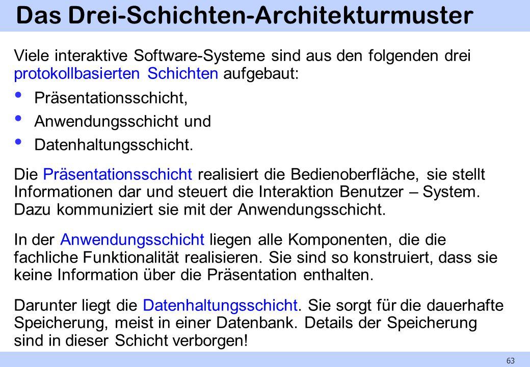 Das Drei-Schichten-Architekturmuster