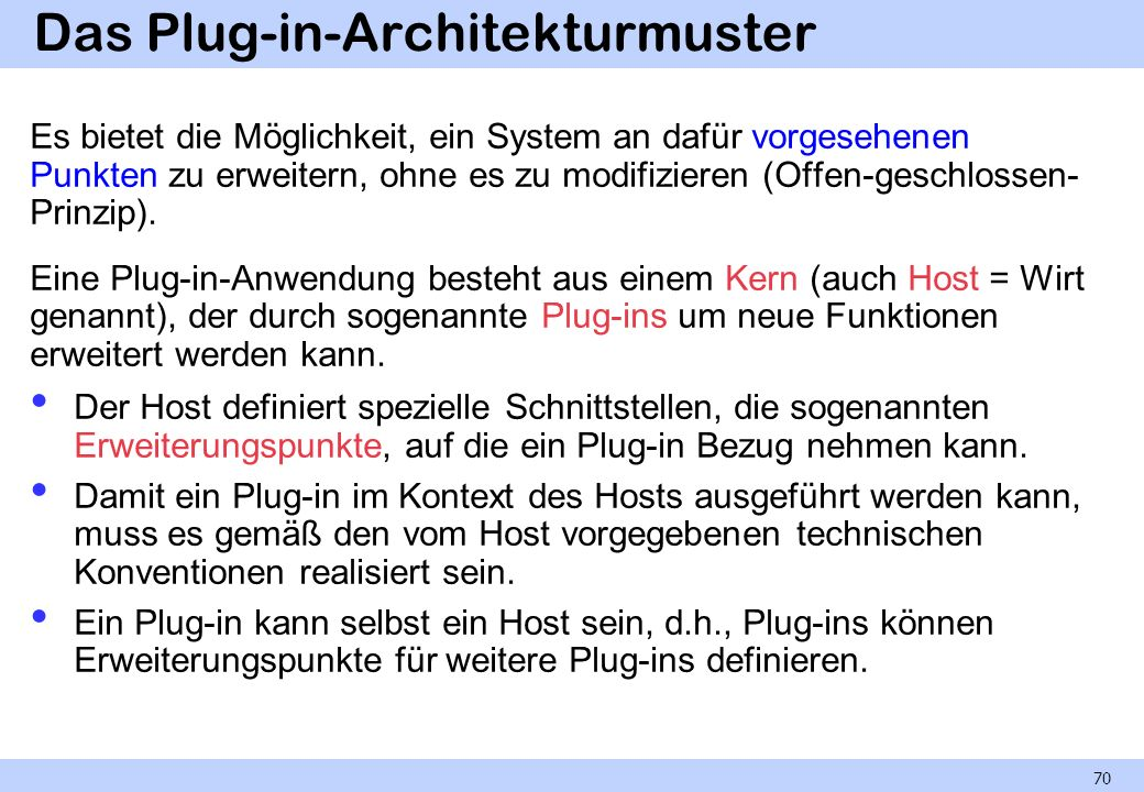 Das Plug-in-Architekturmuster