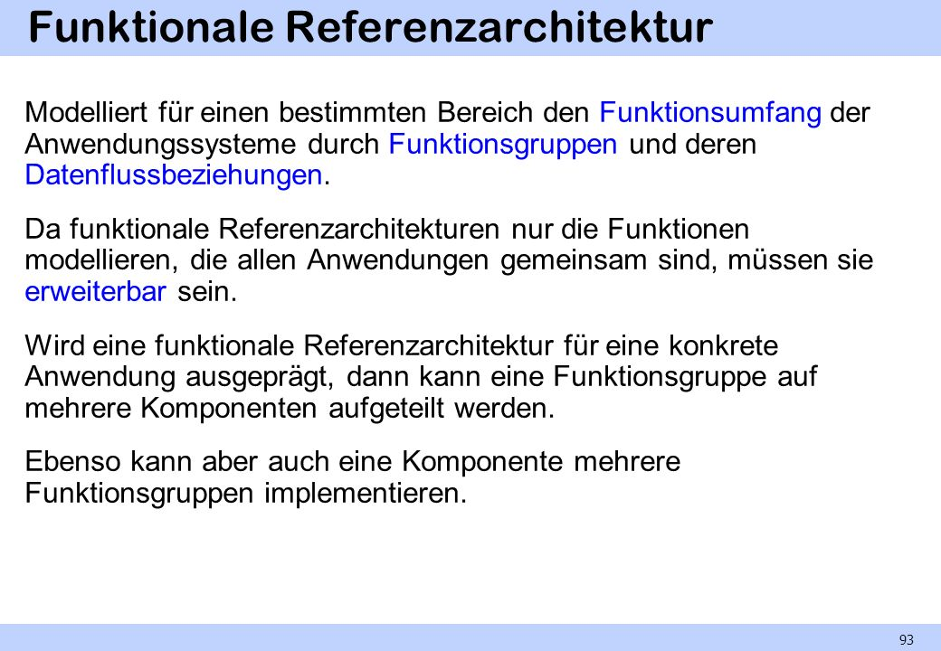 Funktionale Referenzarchitektur