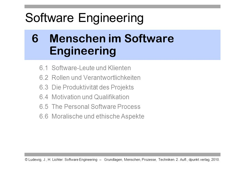 6 Menschen im Software Engineering