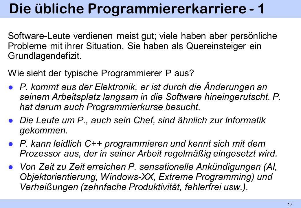 Die übliche Programmiererkarriere - 1