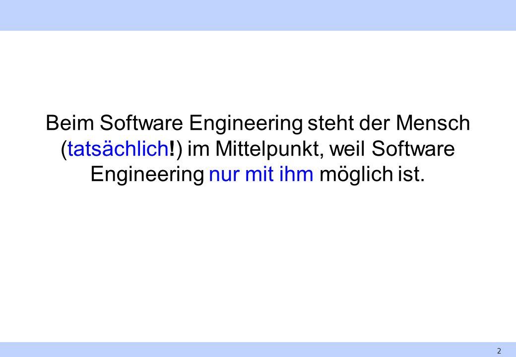 Beim Software Engineering steht der Mensch (tatsächlich