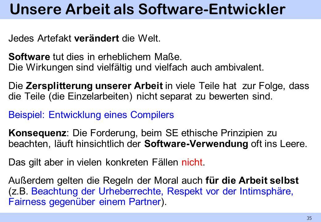 Unsere Arbeit als Software-Entwickler